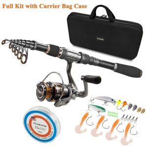 caña de pesca kit con bolso